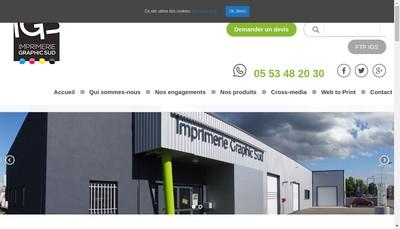 Site internet de Imprimerie Graphic Sud