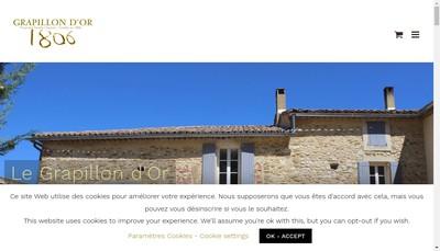 Site internet de Le Grapillon d'Or
