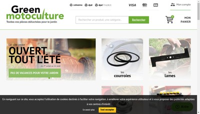 Site internet de Green Motoculture