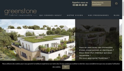 Site internet de SARL Greenstone