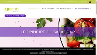 Site internet de Green sur Mesure Real Food Restaurant