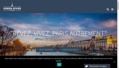 Site internet de Green River Cruises