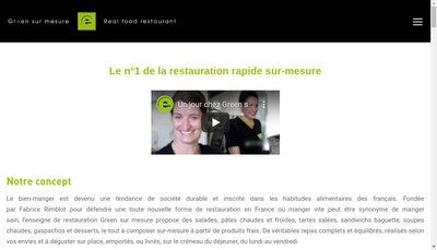 Site internet de Green sur Mesure