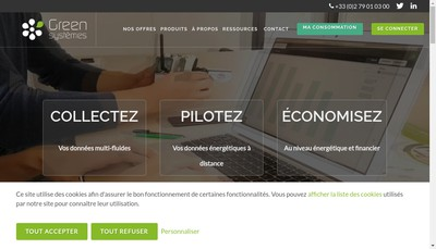Site internet de Green Systemes