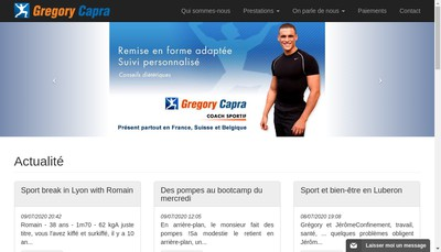 Site internet de Gregory Capra Sport