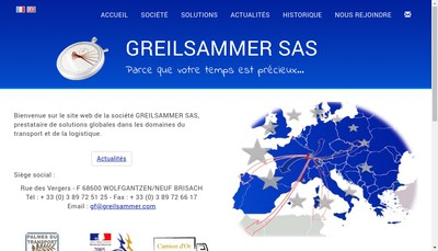 Site internet de Greilsammer Affretement