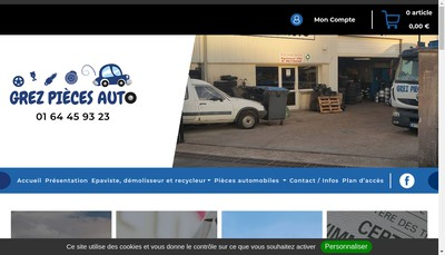 Site internet de Grez Pieces Autos