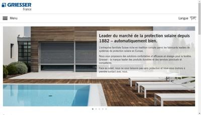 Site internet de Griesser France SA