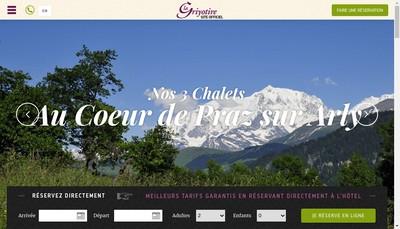 Site internet de La Griyotire