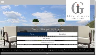 Site internet de Grober Immobilier