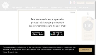 Site internet de Groom Box
