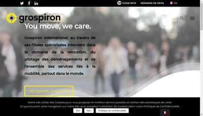 Site internet de Raoult Grospiron International