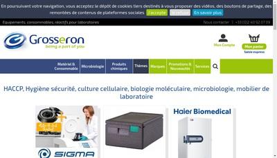 Site internet de Grosseron SA