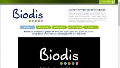 Site internet de Biodis
