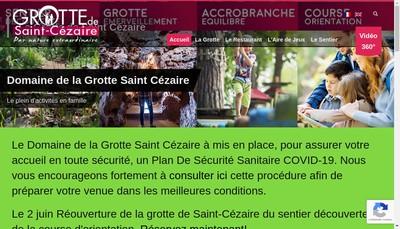 Site internet de Les Grottes de Saint-Cezaire