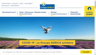 Site internet de Agrica Gestion