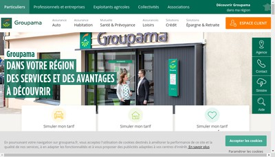 Site internet de Groupama Antilles Guyanes