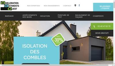 Site internet de Amelioration des Batiments de l'Ouest Poitiers