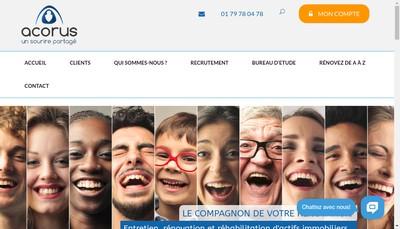 Site internet de Acorus