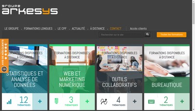 Site internet de Groupe Arkesys