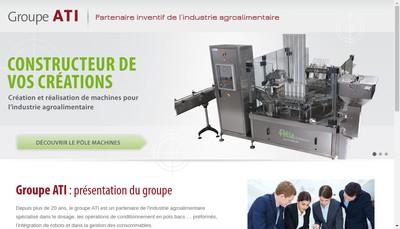 Site internet de Atia Industrie - Axys - Atipack