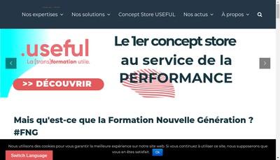 Site internet de Bizness Formation