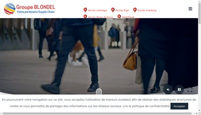 Site internet de Blondel Logistique