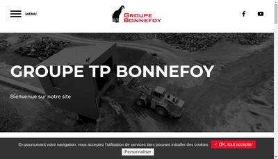 Site internet de Bonnefoy Tous Transports