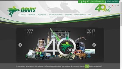 Site internet de Bovis Auvergne