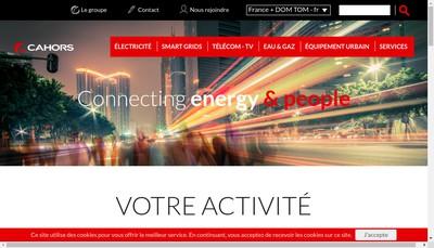 Site internet de Groupe Cahors