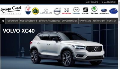 Site internet de Diamant Automobiles-Groupe Capel