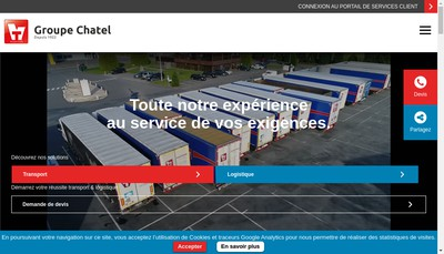 Site internet de Transports Jean Devay