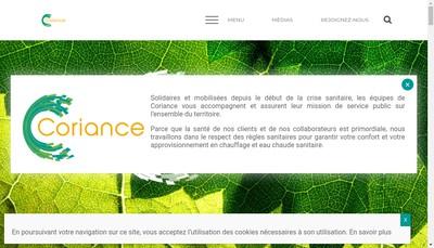 Site internet de Coriance Groupe
