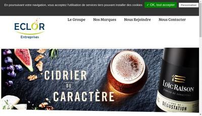 Site internet de Eclor Boissons