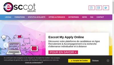 Site internet de Esccot