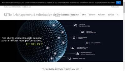 Site internet de Groupe Estia