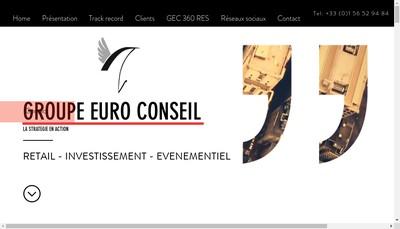 Site internet de Euro Conseil