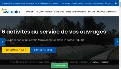 Site internet de Entreprise Galopin