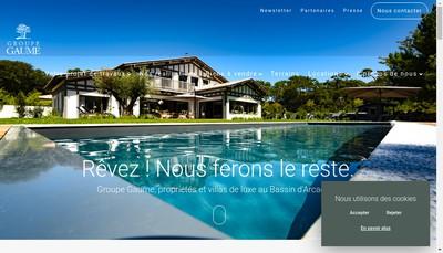 Site internet de Groupe Gaume