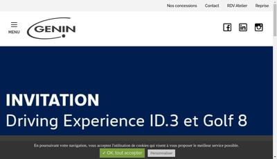 Site internet de Genin Automobiles