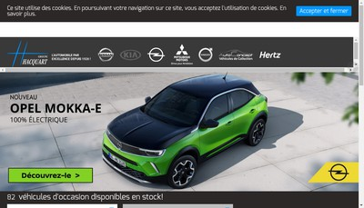 Site internet de Europe Automobiles
