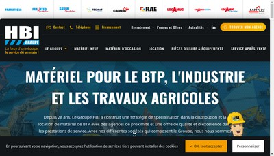 Site internet de Tecmat Service