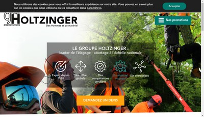 Site internet de Holtzinger Holding