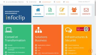 Site internet de Infoclip Sg