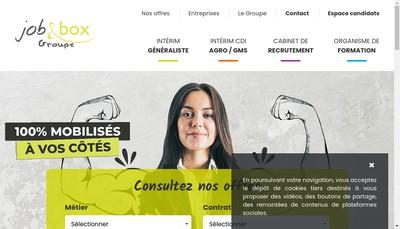 Site internet de Job et Box