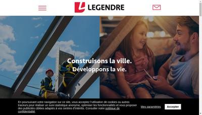 Site internet de Legendre Ile de France