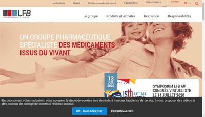 Site internet de Laboratoire Francais du Fractionnement et des Biotechnologies