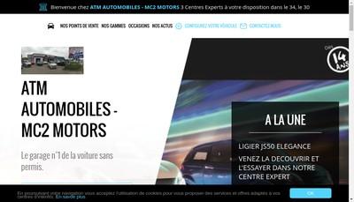 Site internet de Mc2 Motors