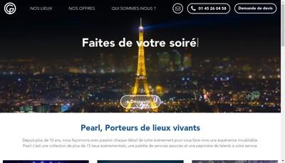 Site internet de Groupe Pearl