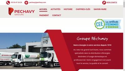 Site internet de Pechavy Energie